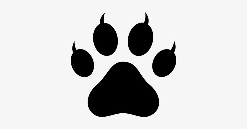 Lion Paw Prints Clip Art - Cat Paw Vector Png, transparent png #2905917