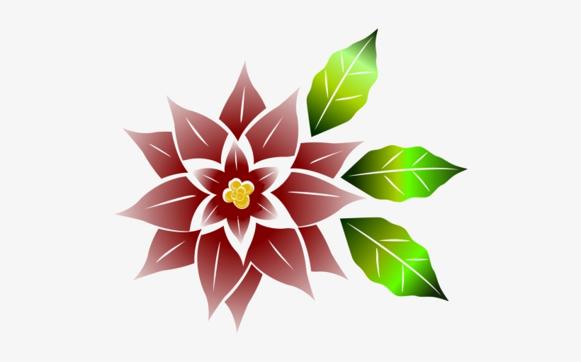 Good Flower,free Vector Graphics - Flor De Noche Buena Png, transparent png #