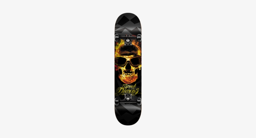 Speed Demons Skateboards Golden Skull Complete Skateboard - Skateboard Deck, transparent png #2910239