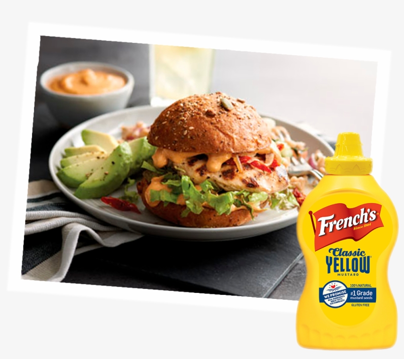 Grilled Chicken Sandwich With Smoky Yellow Mustard - 4 Pack - French's Classic Yellow Mustard 8 Oz, transparent png #2912437