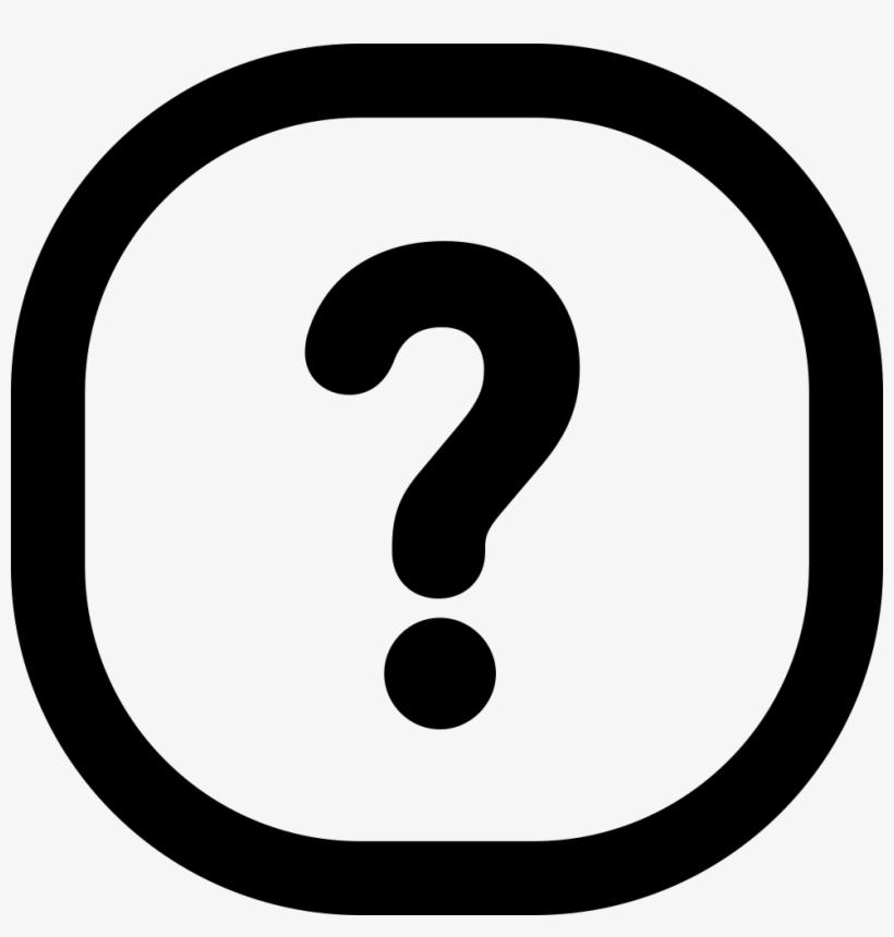 Question Mark - - Small Circle Inside Big Circle, transparent png #2916518