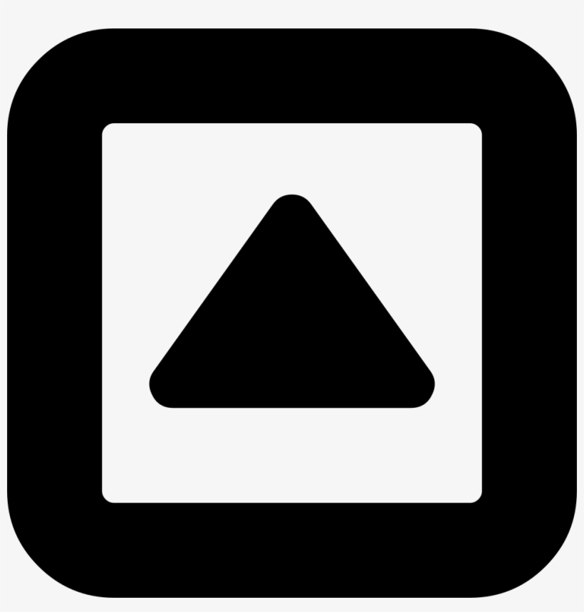 Arrowhead Pointing Up Inside A Square Box Outline Comments - Toggle Open Close Icon, transparent png #2917882