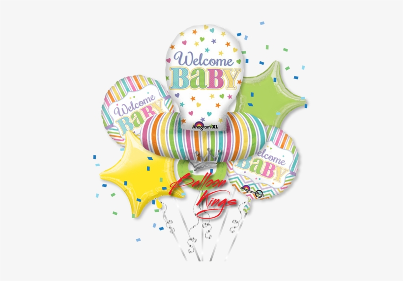 Baby Pacifier Bouquet - Baby Brights Pacifier Balloon (each), transparent png #2922653