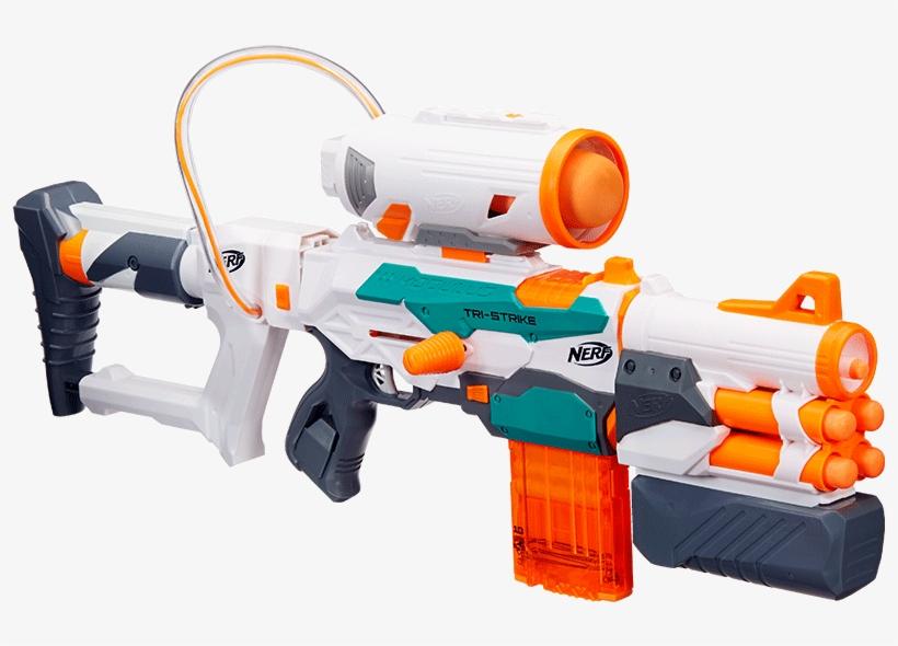 Hasbro Nerf Heat Assemble Multitasking Triple Launcher - Nerf Modulus Tri-strike Blaster, transparent png #2922847