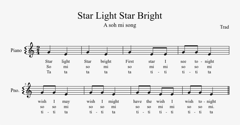 Star Light Star Bright Sheet Music Composed By Trad - Between The Buried And Me Piano Music, transparent png #2923377