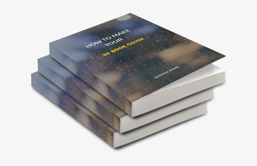 3d Book Pile - Construction Paper, transparent png #2925730