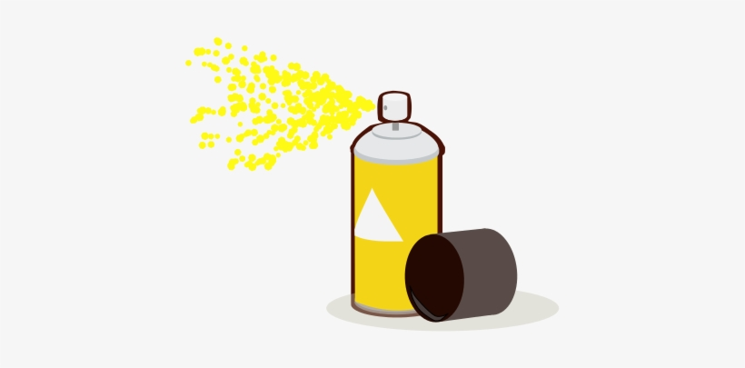Paint Can Spray Yellow - Yellow Spray Paint Can, transparent png #2927481