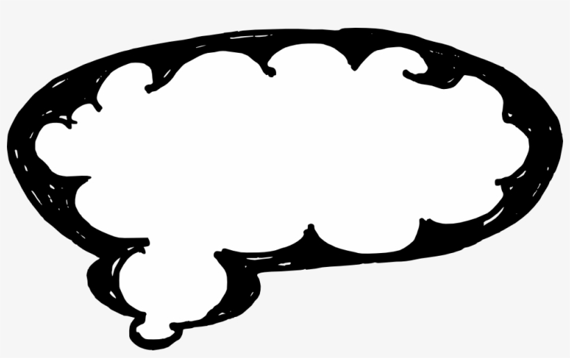 50 Hand Drawn Comic Speech Bubbles Vector - Hand Drawn Thought Bubble Transparent, transparent png #2929747
