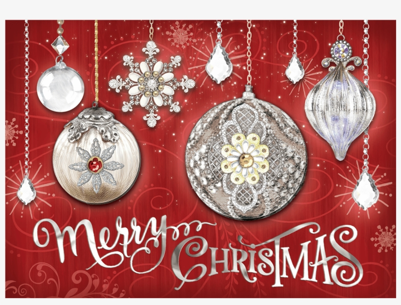 Crystal Ornaments Boxed Holiday Cards - Crystal Ornaments Christmas Cards, transparent png #2931867