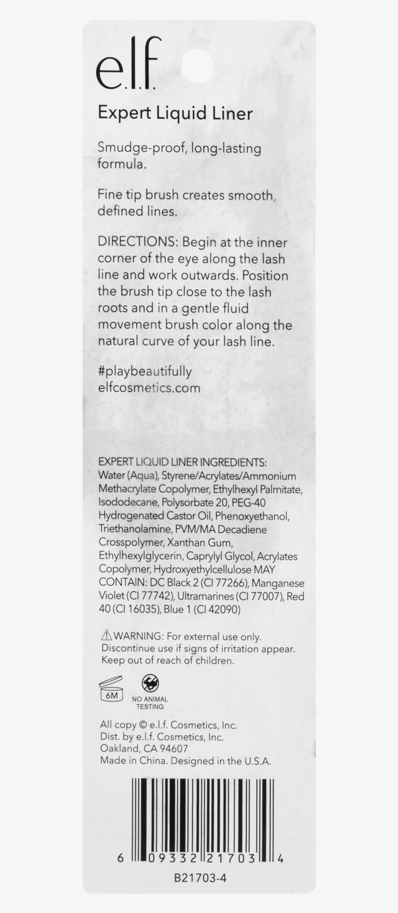 E.l.f. Essential Instant Lift Brow Pencil - Deep Brown, transparent png #2932093
