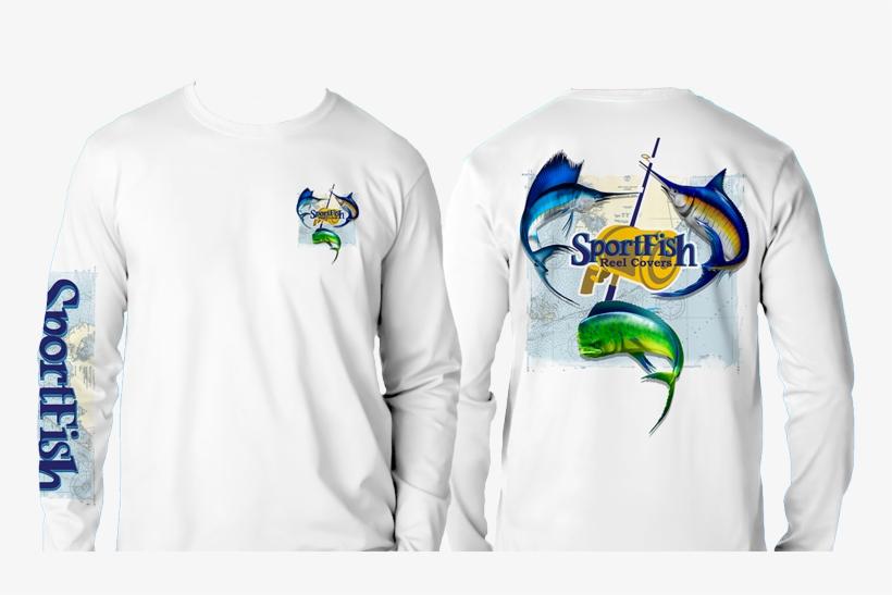 Women's Sailfish / Dolphin Long Sleeve Shirt - Long-sleeved T-shirt, transparent png #2932829