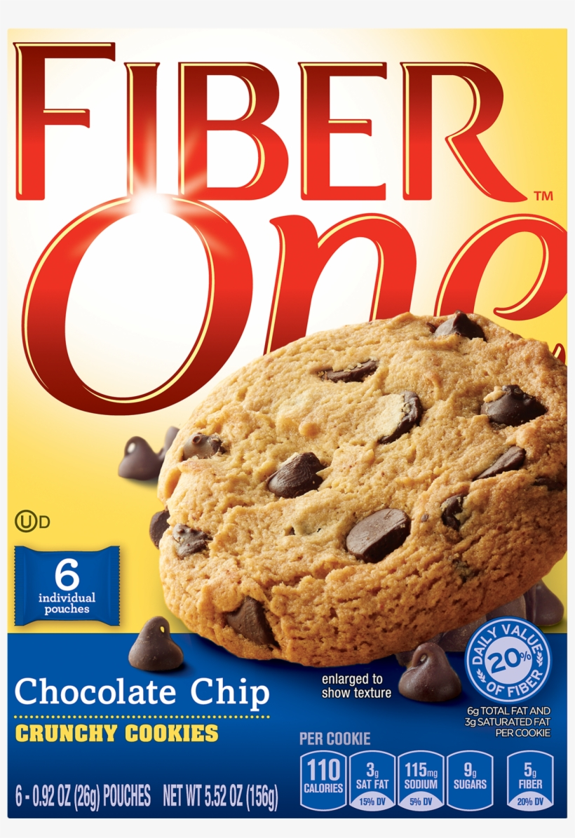 Fiber One Crunchy Chocolate Chip Cookies, transparent png #2933185