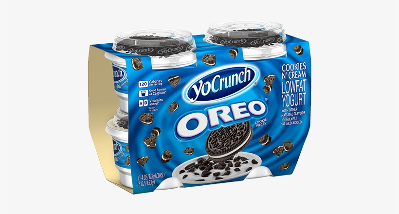 Oreo-4pk - Yocrunch Cookie And Cream Calories, transparent png #2933449