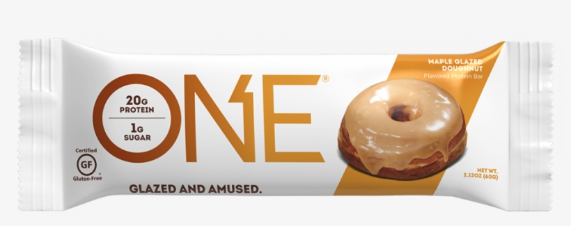 Maple Glazed Doughnut Bar - One Bar Maple Glazed Donut, transparent png #2934017
