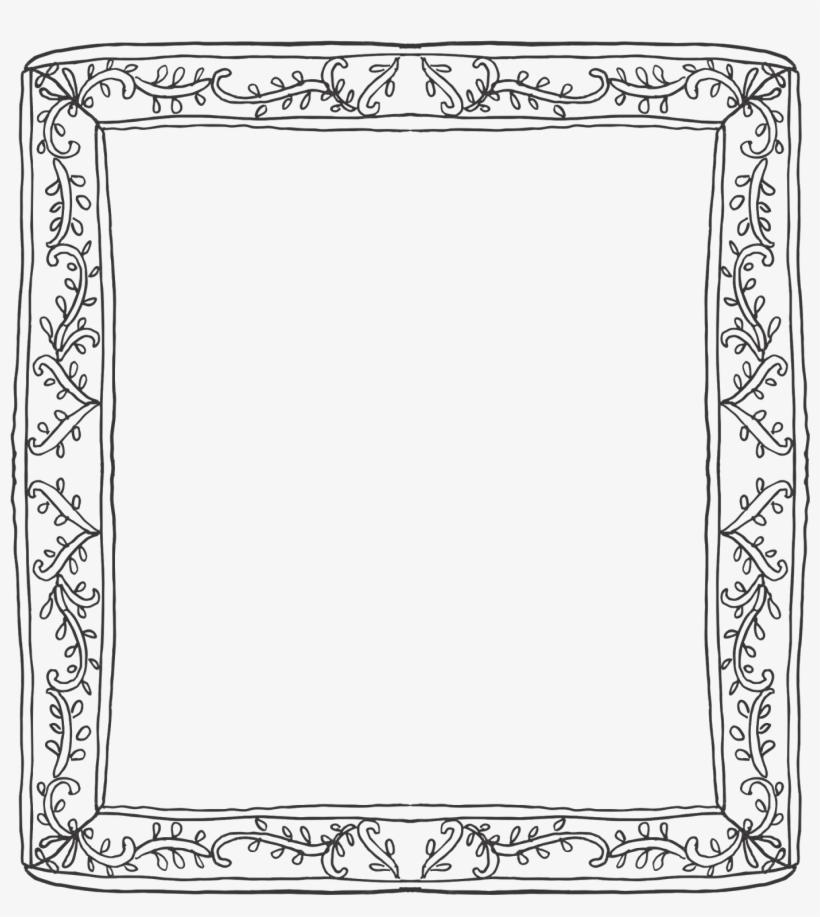 Vine Frame Border - Cadre Decoratif, transparent png #2934776