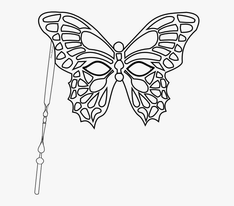 Monarch Butterfly Template Printable - Butterfly Masquerade Mask Template, transparent png #2935961