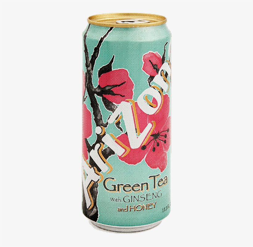 Arizona Green Tea On Tumblr - Arizona Tea Green Tea 11.5 Oz Slim Can Pack Of 30, transparent png #2936265