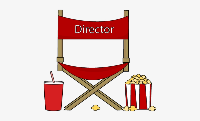 Movie Clipart Drink - Directors Chair Clip Art, transparent png #2937012