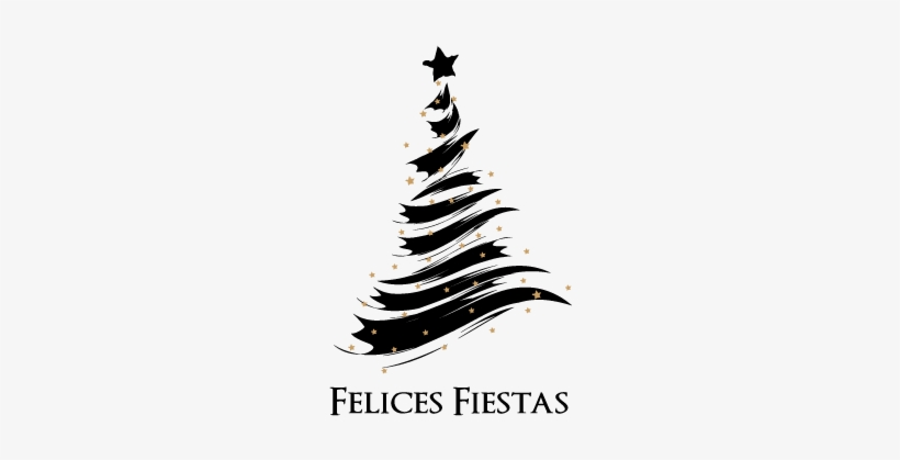 Felices Fiestas - Abstract Christmas Tree Vector, transparent png #2940341