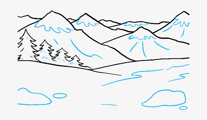 How To Draw Mountains Draw Mountains Free Transparent Png