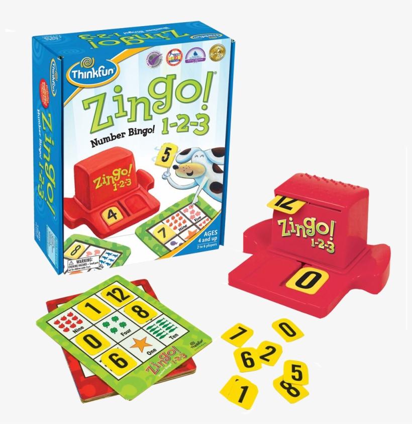 Zingo 1 2 - Think Fun Zingo 1-2-3 Number Bingo, transparent png #2947017