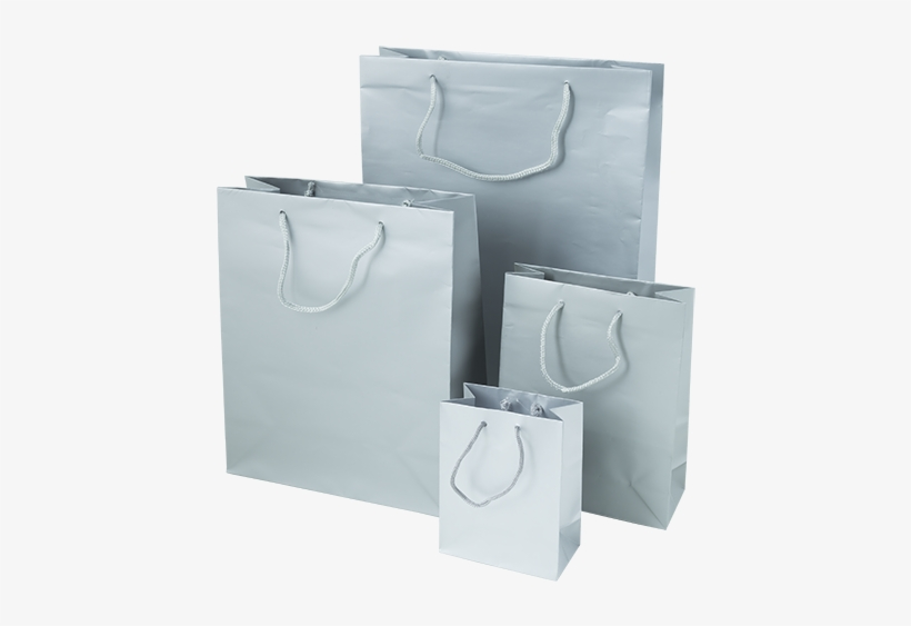 Silver Luxury Gift Bags - Plastic Shopping Bag, transparent png #2948030
