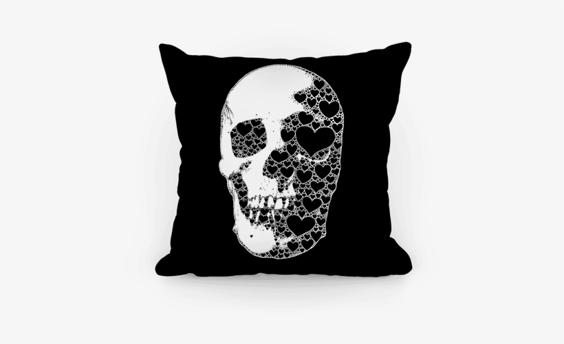 Heart Skull Pillow - She's Beauty She's Grace She Ll Punch You In The Face, transparent png #2949588