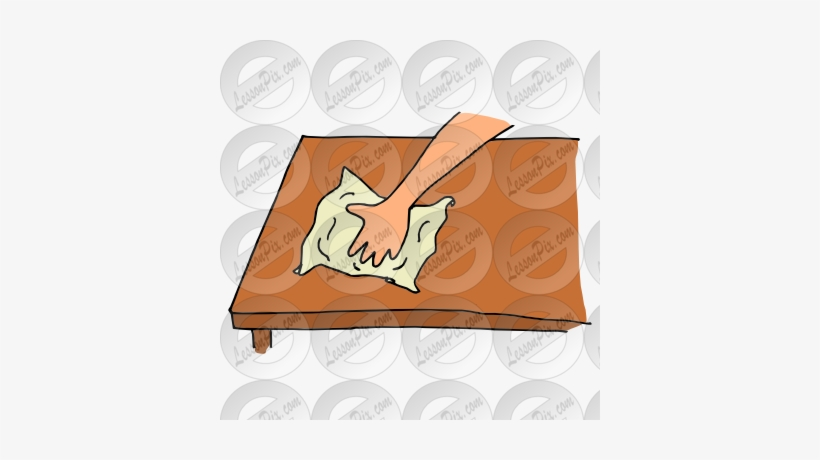 Wipe Table Cartoon Table Washer Clipart Free