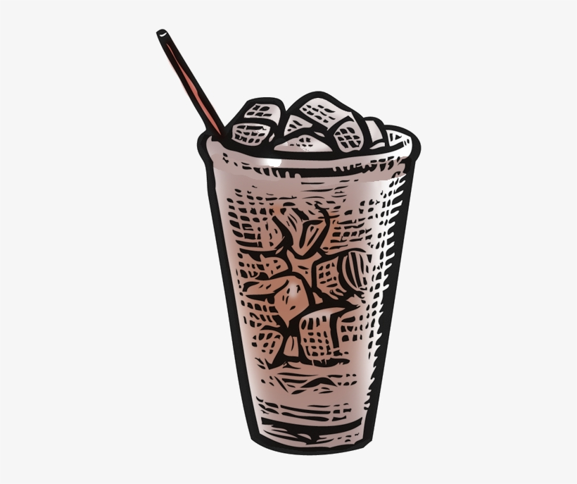 Hot Enough For A Nice Iced Coffee - Iced Coffee Illustration Png, transparent png #2950210