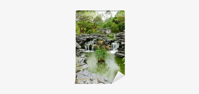 Chinese Garden With Flowing Water Wall Mural • Pixers® - Water, transparent png #2953334