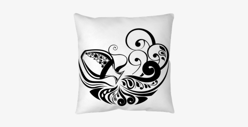 Zodiac Wheel With Sign Of Aquarius Throw Pillow • Pixers® - Aquarius Tattoo Design For Men, transparent png #2962466