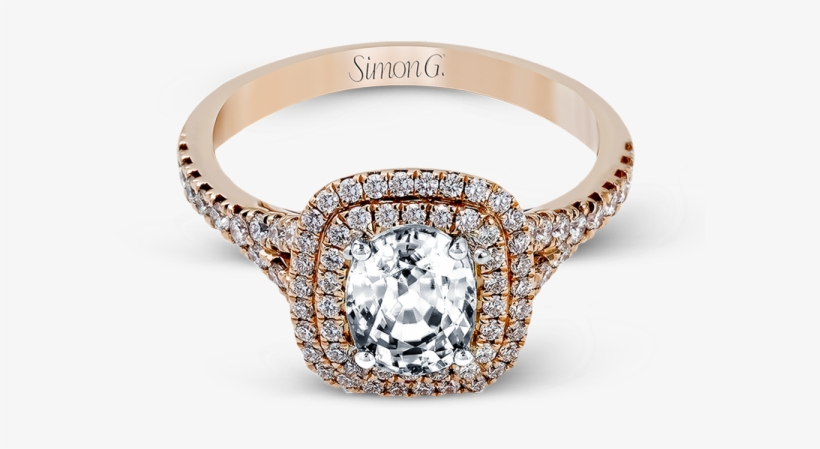 Mr2414 Rg F Simon G - Simon G Jewelry Rose Gold Engagement Ring, transparent png #2962954