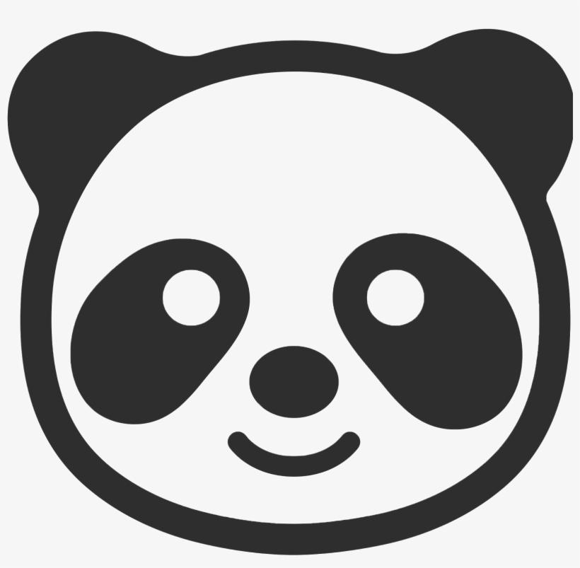 Papitas Fritas Vector Blanco Vector Negro Panda Emoji