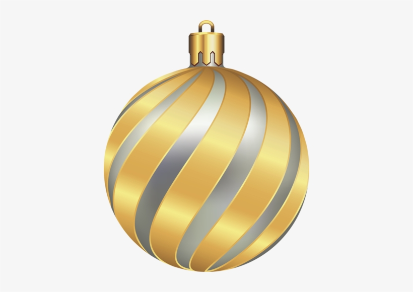 Gold Christmas Ornaments Png Download - Gold Christmas Ornament Transparent, transparent png #2968503