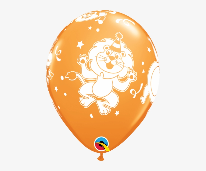 "11"" Party Animals Latex - 18-a-round Birthday Latex Balloons, Pack, transparent png #2969390"