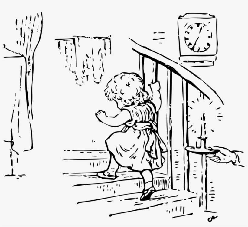 Stair Climbing Staircases Drawing Child - Cartoon Going Up The Stairs, transparent png #2971107