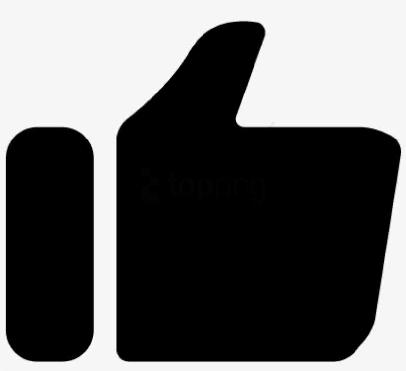 Like Symbol For Interface Of Black Hand Shape With - Simbolo Like Youtube Png, transparent png #2971622