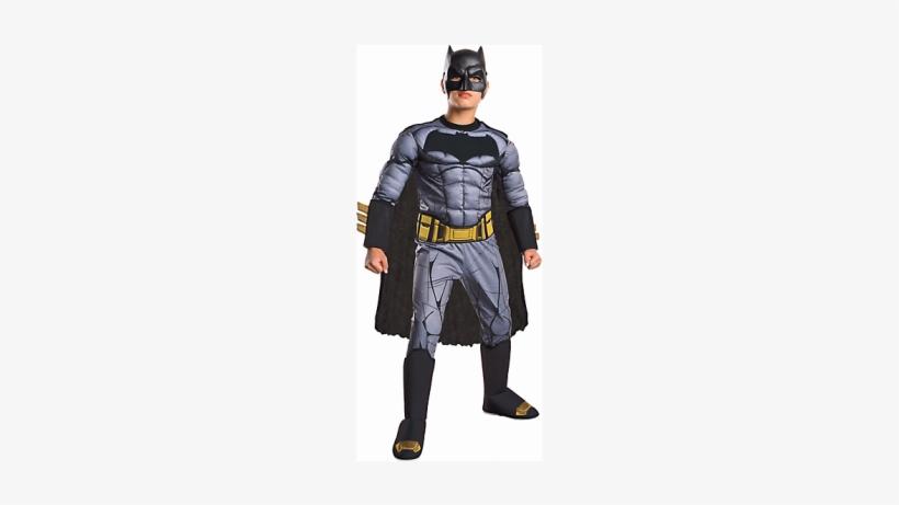 Boys Batman Muscle Costume Deluxe - Batman Vs Superman Costumes For Kids, transparent png #2971800