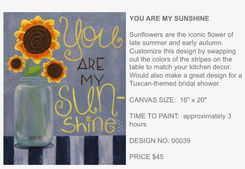 You Are My Sunshine Popup Paint Studio - Color Me Mine, transparent png #2973486
