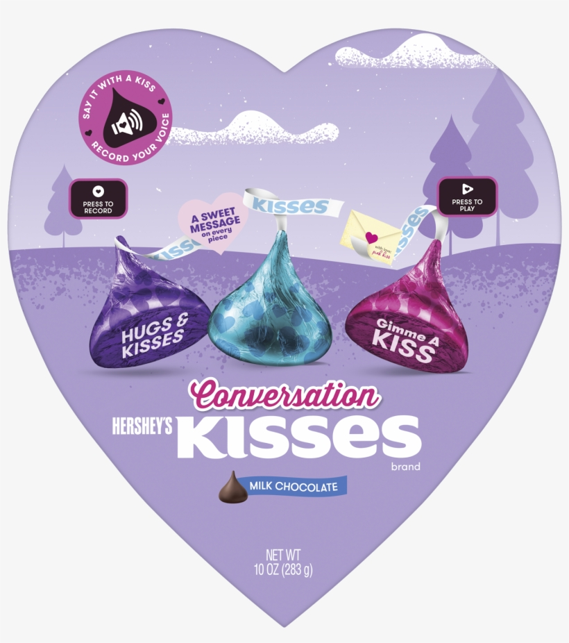 Hershey's Kisses Brand Milk Chocolate Conversation - Hersheys Kisses Milk Chocolate, Mini - 10 Oz Pouch, transparent png #2975456