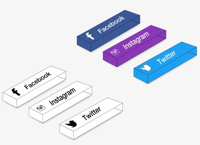3d Block Buttons Concept Sketch Instagram Facebook - Concept, transparent png #2975925