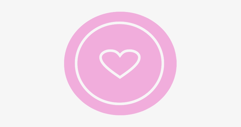 Mysticker Pink Heart Circle Button Cute Adorable Sweet - Cute Heart Circle Icon Png, transparent png #2980142