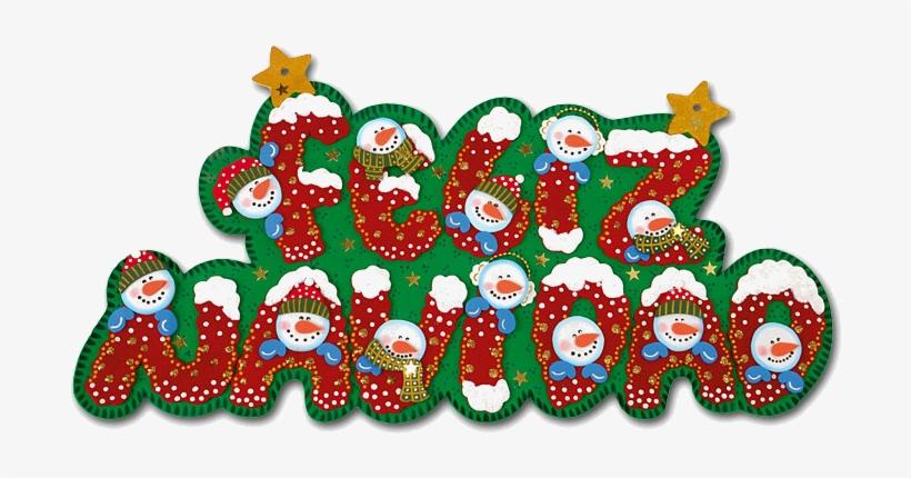 ¡feliz Navidad Os Deseo A Todos Unas Felices Fiestas - Letreros De Feliz Navidad En Foami, transparent png #2980220