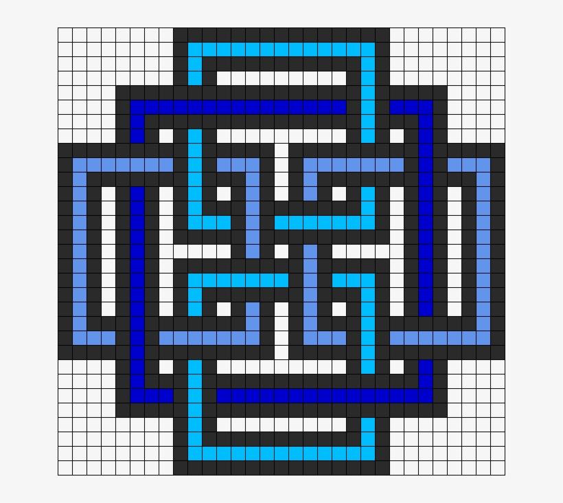 Square Pattern Perler Bead Sprite