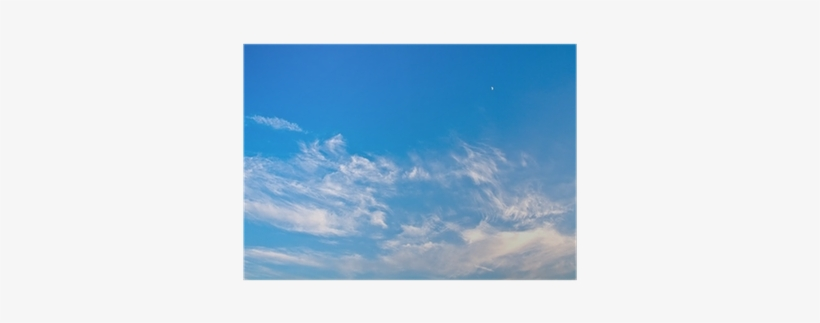 Texture Of Blue Sky With Clouds And The Moon Poster - Cloud