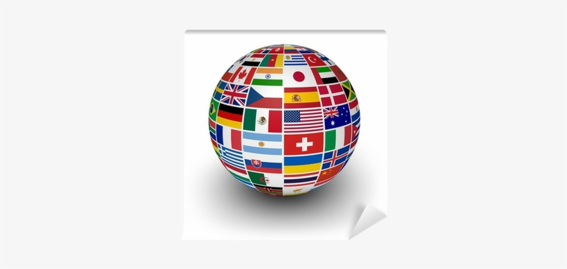 Globe International World Flags Wall Mural Pixers We - International Business Basics: Learn What You Need, transparent png #2983718