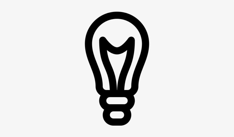Light Bulb Thick Outline Vector - Incandescent Light Bulb, transparent png #2985813