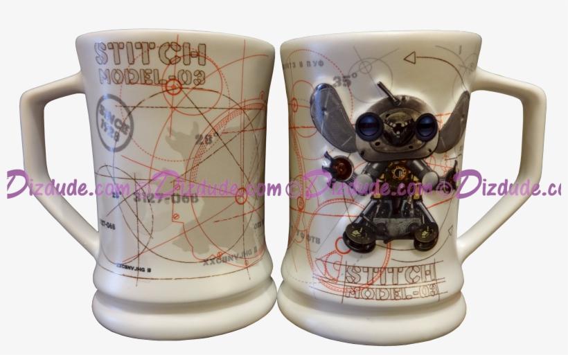 Steam Punk Stitch Robot Mug - Disney Park Stitch Robot Model Large Ceramic Mug, transparent png #2986429