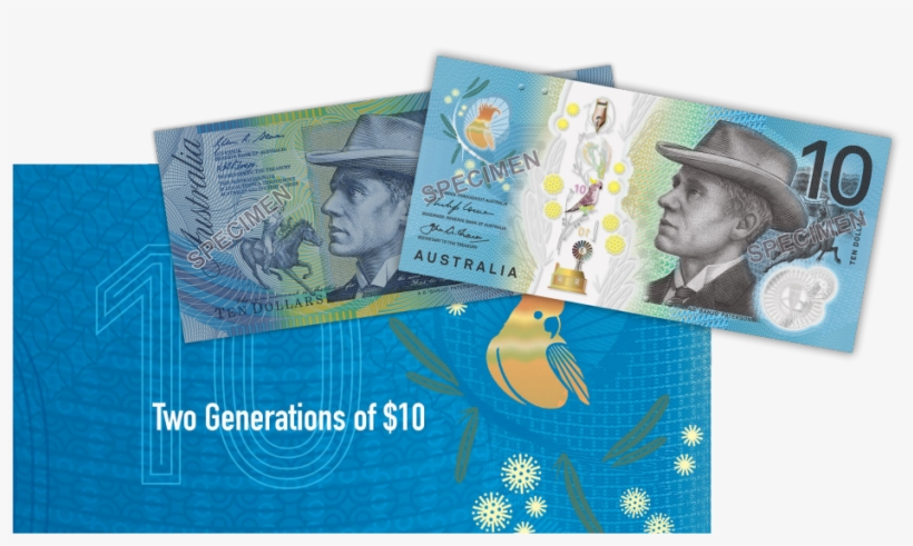 Two Generations Of $10 - 2017 Rba Official Two Generations Unc Pair Folder, transparent png #2993448