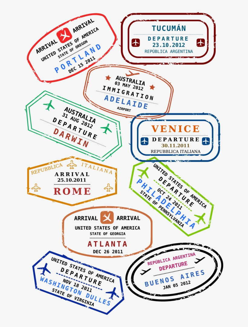 Passport Stamp Travel Visa Clip Art
